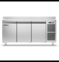 Coldline Vrieswerkbank   RVS   270L   3 Deuren   1/1 GN   -18°/-22°C   Geventileerd   1780x700x900(h)mm