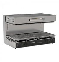 TECNO INOX salamander | 6kW | twee onafhankelijk instelbare temperatuurschakelaars | 450x800x500(h)mm