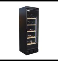 TopCold Wijnkoelkast | Zwart | 90x 75cl | 1 Zone | +4°C/+18°C | Statisch | 590x610x1885(h)mm
