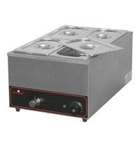 CaterChef Bain marie GN1/1x1-150mm | 1,2kW | Met ingebouwd element | 355x615x278(h)mm