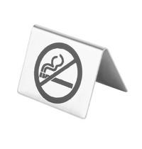 "Olympia Tafelbordje | RVS | ""Niet Roken"" | 55x38x45(h)mm"