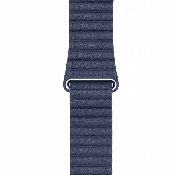123Watches Apple Watch PU leder rippe band - blau