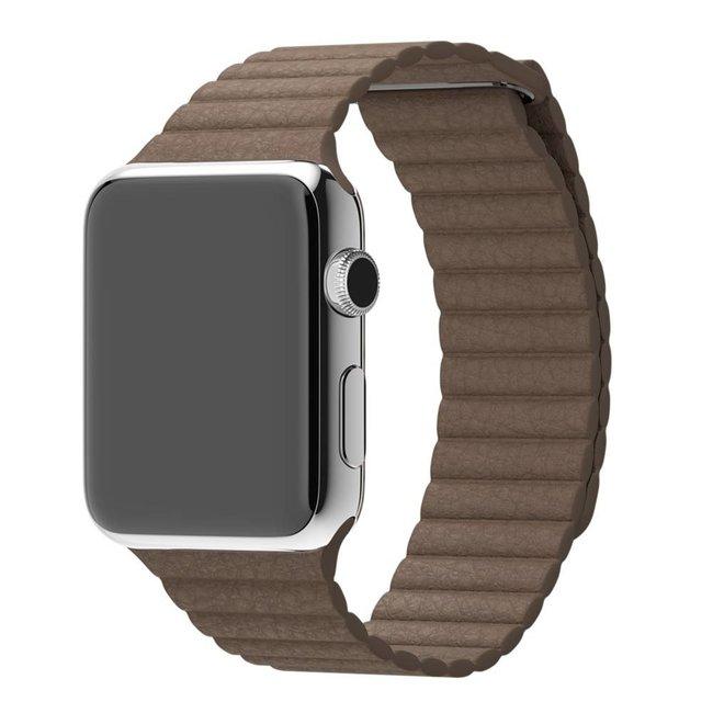 Marke 123watches Apple Watch PU leder rippe band - braun