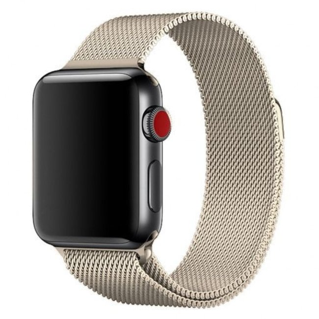 Marke 123watches Apple watch milanese band - retro gold