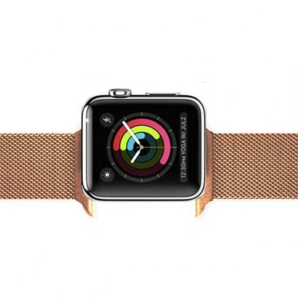 123Watches Apple watch milanese band - rotgold