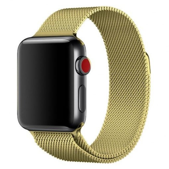 Marke 123watches Apple watch milanese band - gold