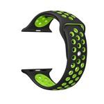 123Watches Apple watch doppelt sport bandje - schwarz grün