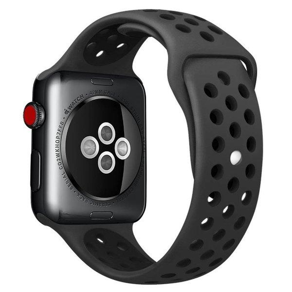 123Watches Apple watch doppelt sport bandje - braun schwarz