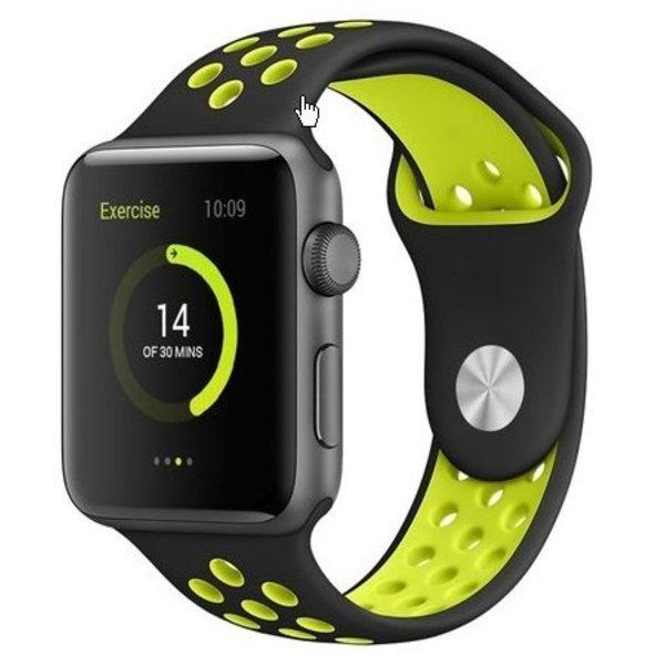 123Watches Apple watch doppelt sport band - schwarz gelb