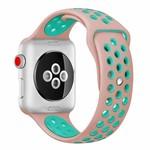 123Watches Apple watch doppelt sport band - rosa hellblau