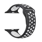 123Watches Apple watch doppelt sport band - schwarz weiß