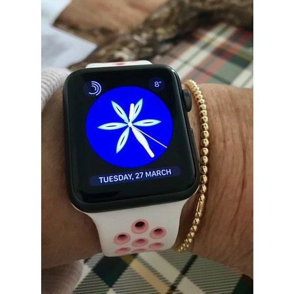 123Watches Apple watch doppelt sport bandje - weiß pink