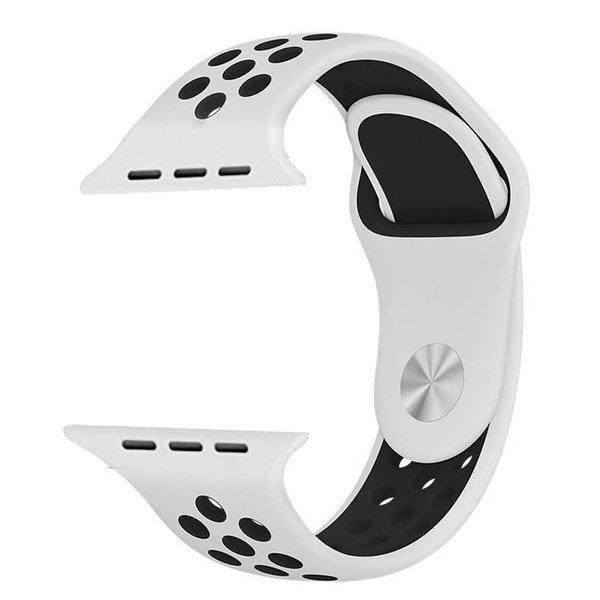 123Watches Apple watch doppelt sport band - weiß schwarz