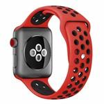 123Watches Apple watch doppelt sport bandje - rot schwarz