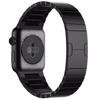 Marke 123watches Apple Watch Stahl Gliederarmband - schwarz