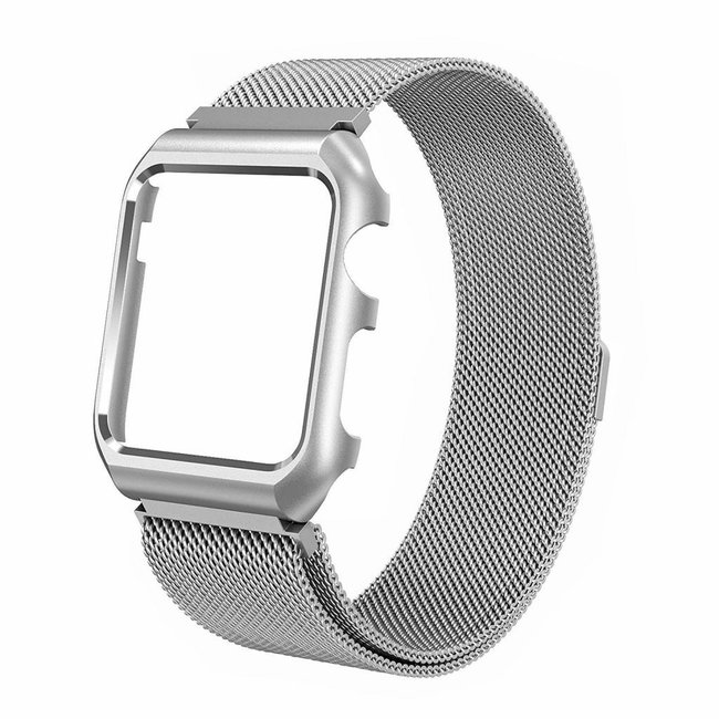 Apple watch milanese case band - silber