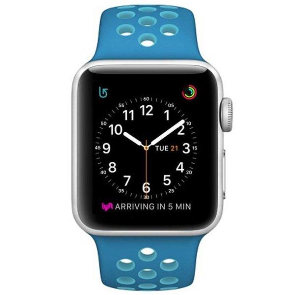 123Watches Apple watch doppelt sport band - blau hellblau