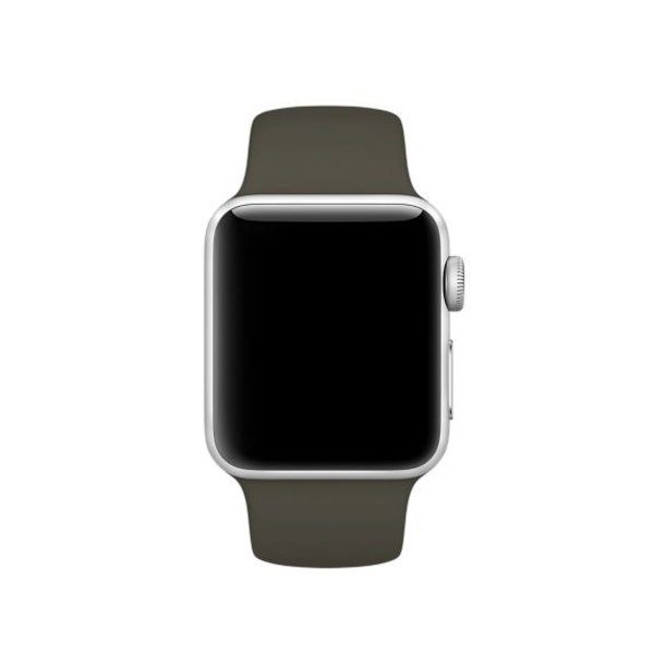 123Watches Apple watch sport band - dunkles oliv