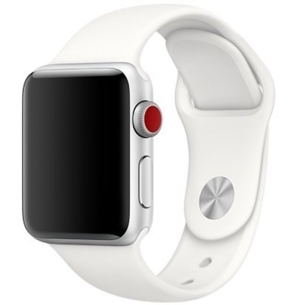 123Watches Apple watch sport band - weiches Weiß
