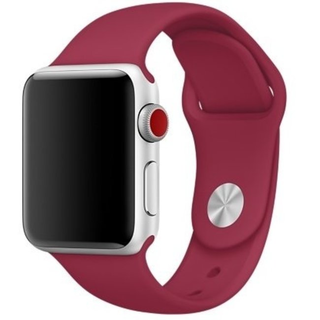 123watches Apple watch sport band - stieg rot