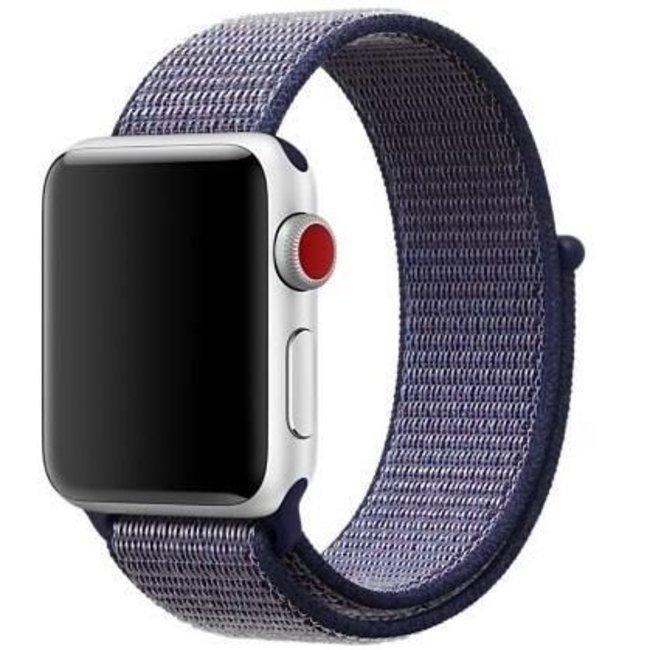 Marke 123watches Apple watch nylon sport band - mitternachtsblau