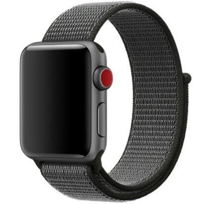 Marke 123watches Apple watch nylon sport band - dunkle olive