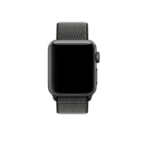 123Watches Apple watch nylon sport band - dunkle olive