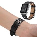 123Watches Apple watch leder hermes band - schwarz