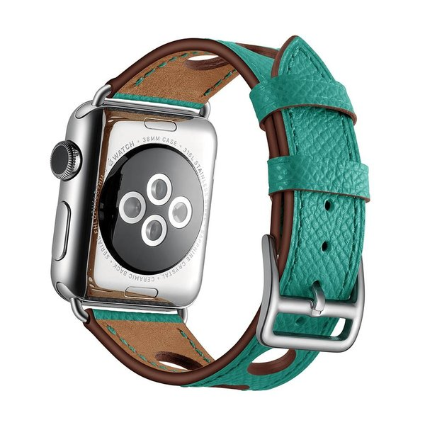 123Watches Apple watch leder hermes band - grün