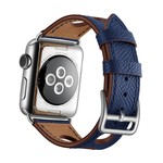 123Watches Apple watch leder hermes band - dunkelblau