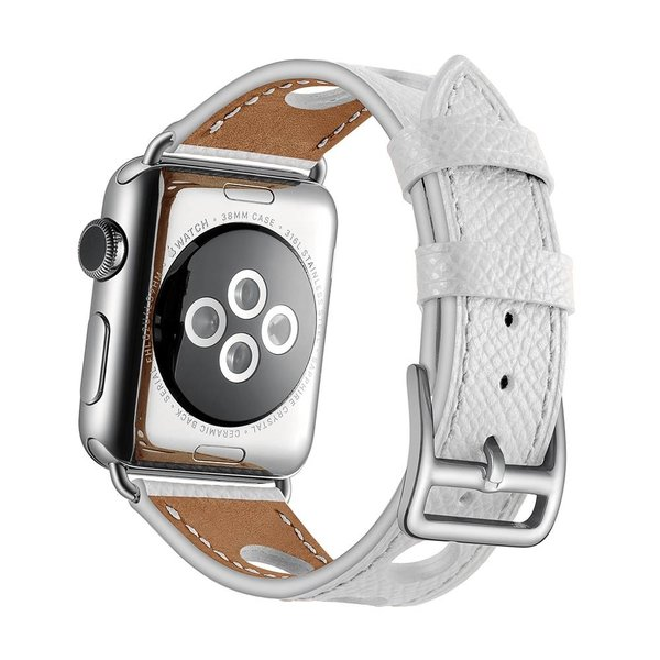123Watches Apple watch leder hermes band - weiß