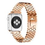 123Watches Apple watch Fischstahl Gliederband - rotgold