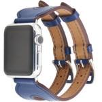 123Watches Apple watch leder doppelschnallen belts - blau