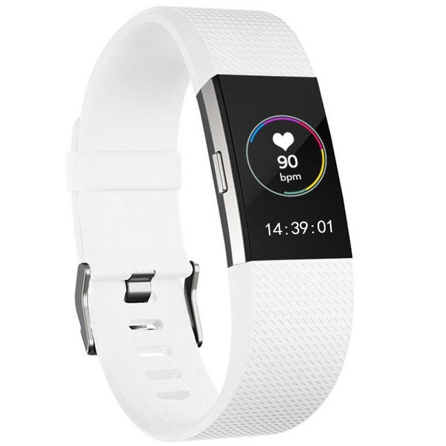Marke 123watches Fitbit charge 2 sport band - weiß