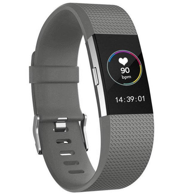 Marke 123watches Fitbit charge 2 sport band - grau