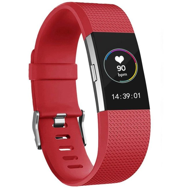 Marke 123watches Fitbit charge 2 sport band - rot
