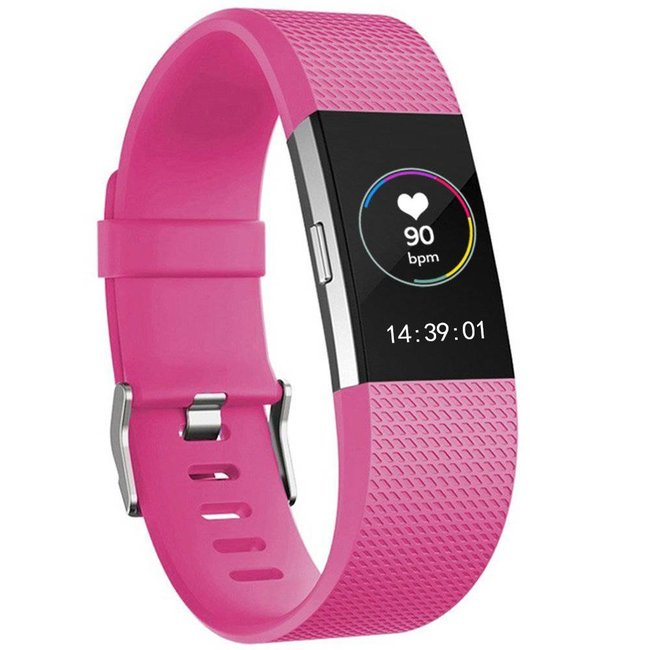 Marke 123watches Fitbit charge 2 sport band - rose