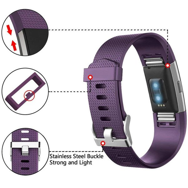 123Watches Fitbit charge 2 sport band - lila