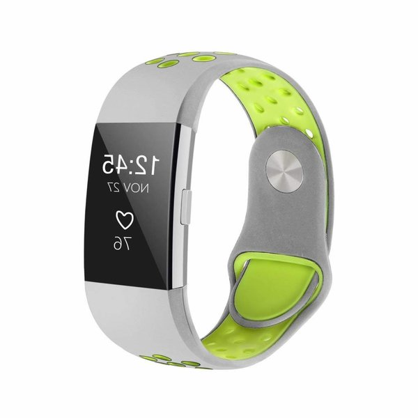 123Watches Fitbit charge 2 sport band - graues gelb
