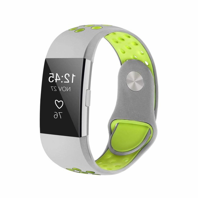 Fitbit charge 2 sport band - graues gelb