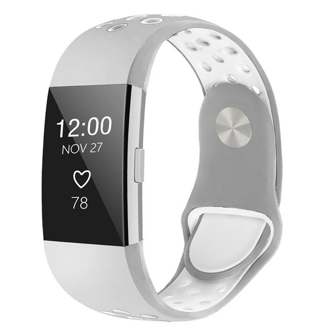 Marke 123watches Fitbit charge 2 sport band - grauweiß
