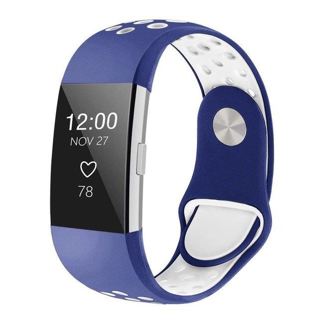 Fitbit charge 2 sport band - dunkelblau weiß