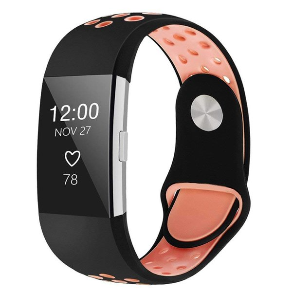 123Watches Fitbit charge 2 sport band - schwarz pink