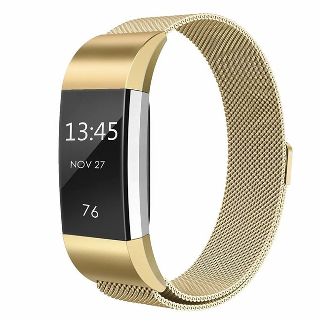 Fitbit charge 2 milanese band - gold