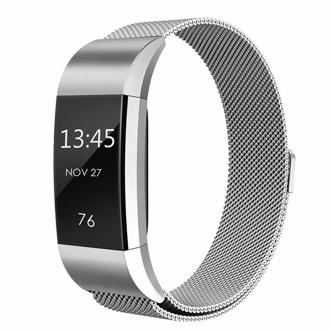 Fitbit charge 2 milanese band - silber