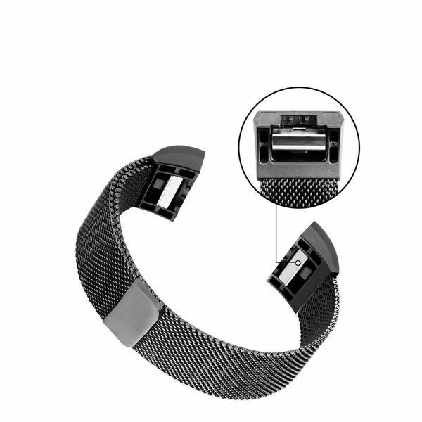 123Watches Fitbit charge 2 milanese band - schwarz