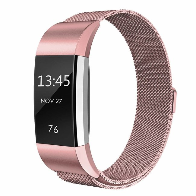 Fitbit charge 2 milanese band - pink