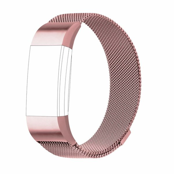 123Watches Fitbit charge 2 milanese band - pink