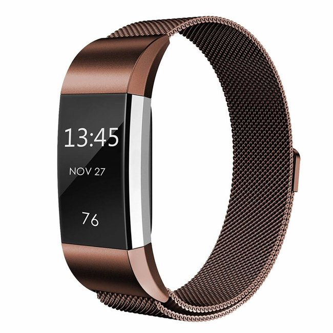 Fitbit charge 2 milanese band - braun