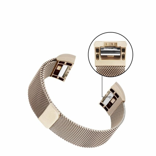 123Watches Fitbit charge 2 milanese band - champagner